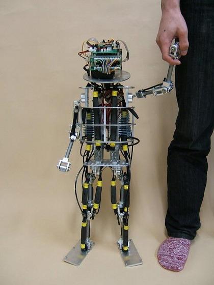 Robotizuoti vaikai Pneuborn savarankiškai šliaužioja ir vaikšto