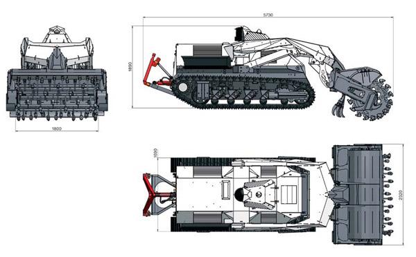Robotas-tankas Digger D-3 apsaugos laukus nuo minų 2