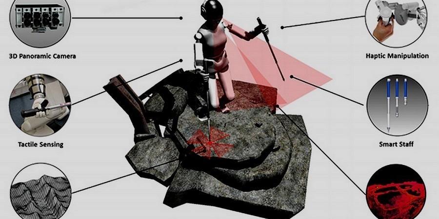 SupraPed robotai pasitelks vaikščiojimo lazdas