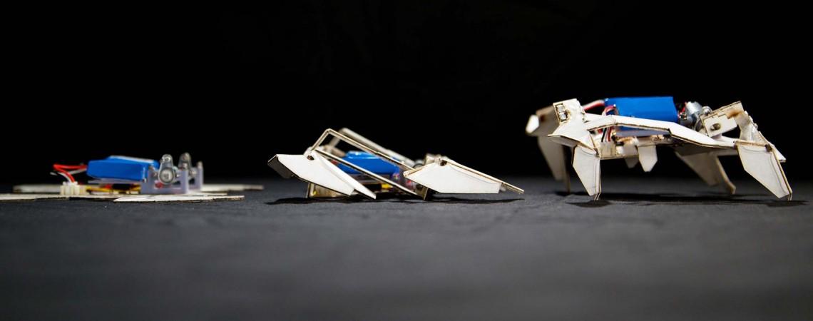 Įmantrus autonomiškai susilankstyti gebantis robotas – robotų technikos ateitis