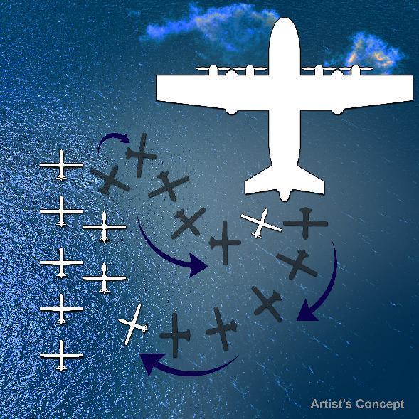 Skraidančio lėktuvnešio veikimo schema / DARPA paveikslėlis