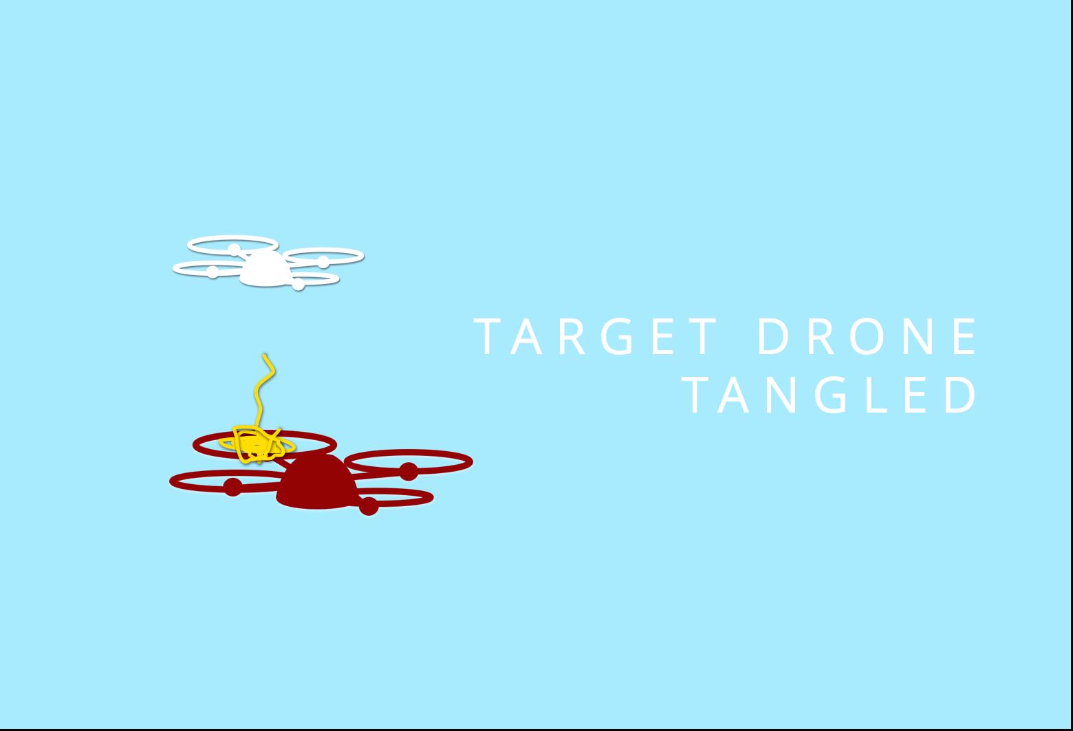 Išmesta virvė susipainioja atakuojamo drono sraigtuose/ rapere.io iliustracija