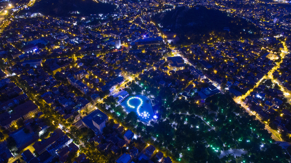 Plovdivas naktyje
