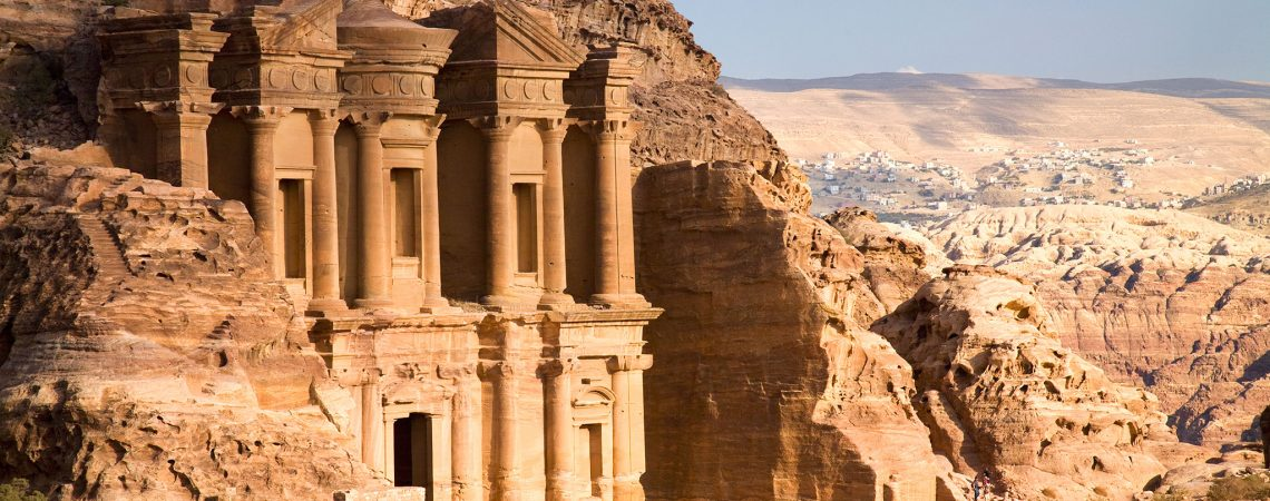 The Nabatean Architecture Of The Monastery; Petra Jordan